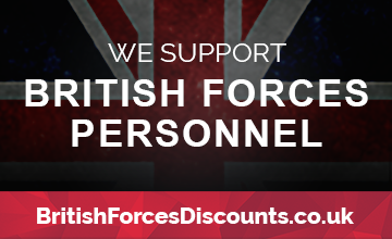 British Forces Personnel and Veterans discount code available here